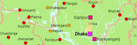 Bangladesh Divisions and Urban Areas