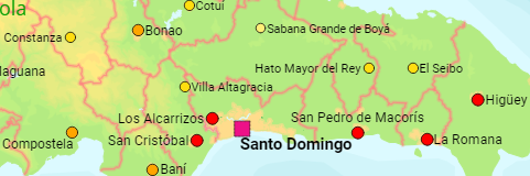 Dominican Republic provinces and cities