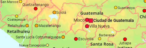 Guatemala Departments and Cities
