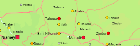 Niger Regions and Cities