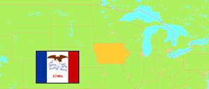 Iowa (USA) Map