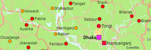 Bangladesh: Divisions, Districts, Subdistricts, Cities