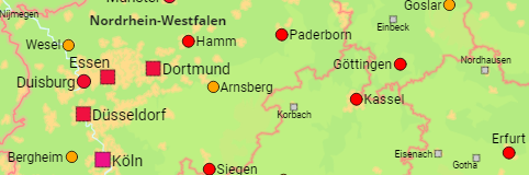 Map Of Germany And Surrounding Counties.Germany States Districts Counties Cities Communes