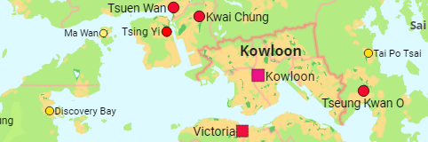 Hong Kong: Council Districts and Cities