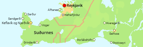 Iceland Regions and Major Urban Settlements