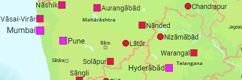 India: States, Districts, Cities, Towns, Urban