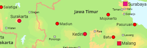 Indonesia Provinces and Cities
