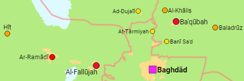 Iraq Governorates and Cities