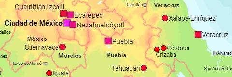 Mexiko Staaten Karte.Mexiko Bundesstaaten Gemeinden Stadte Ortschaften