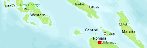 Solomon Islands Urban Centers