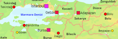 Turkey Cities