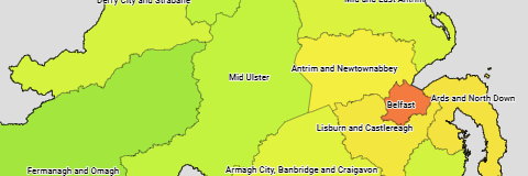 UK Northern Ireland Districts