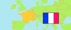 Elsass Karte Frankreich.Grand Est Elsass Lothringen Frankreich Départements Städte