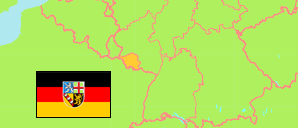 Saarland (Germany) Map
