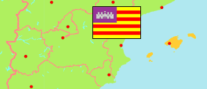 Illes Balears / Balearic Islands (Spain) Map