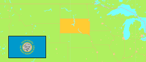 South Dakota (USA) Map